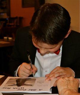 Grant signing books